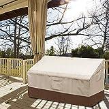 テラスのベンチカバー、庭の防水防風の破損抵抗力がある210Dオックスフォードの庭のベンチのシートカバー折りたたみ