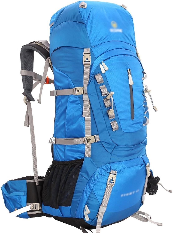 Dengshanbao Bergsteigenbeutel-Abenteuer-Reihe im Freienmann- und -Frauen Wasserdichte Reisebergsteigenbeutel-Rucksack 55 55 55 65   75L (Farbe   Blau, größe   55L-35  28  82cm) B07GV4V133  Neueste Technologie 62d847