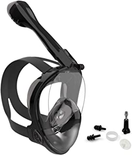 Jwintee Full Face Snorkel Mask, Diving Mask for Kids and Adults,180° Panoramic View Snorkel Mask with Camera Mount, Safe B...