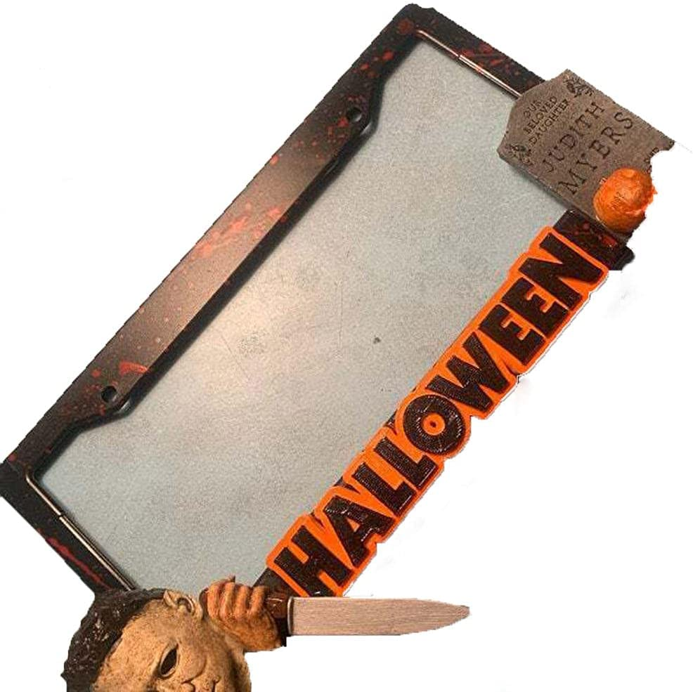 fdsow Halloween Michael Myers License Frame Bombing free Award-winning store shipping Plate Lic