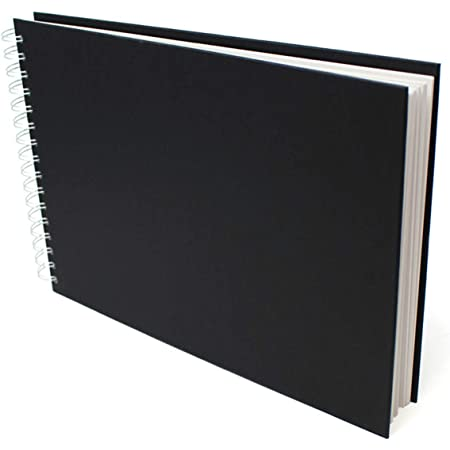 100/% Recycled Hardcover Sketchbook 170gsm // 105lb 8.5 x 11 in Portrait Recycled Spiral Sketch Book//Drawing Pad Artway Enviro
