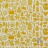 MIRABLAU DESIGN Stoffverkauf bio Baumwolle gelb Popeline