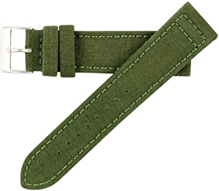 Hadley Roma MS850 22mm Green Genuine Cordura Fabric Stitched Watch Band