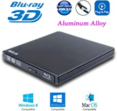 USB 3.0 External 6X Blu-Ray Burner 3-D Blue-ray Portable DVD Player for Acer Predator Helios 300 Elios 300 500 XB271HU XB241H XB272 XB273K 15 2019 Gaming Laptop PC, BD-RE DVD-R DL Writer Optical Drive