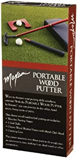 Maxam Portable Cherry Wood Putter Set for Travel or The Office [Misc.]