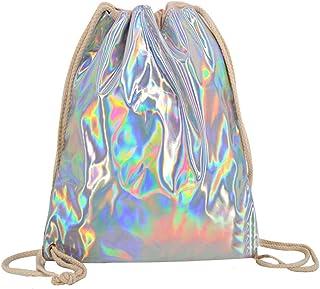 PUG Bag Girls School Backpack Shiny Holographic Pink Bag Personalised PH20