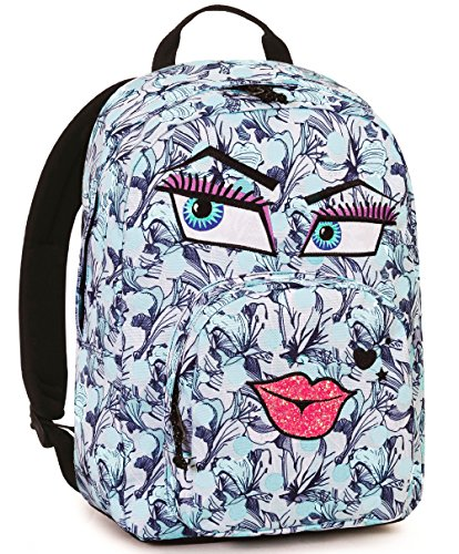 Rucksack Invicta , Ollie Pack Face Fantasy , 25 Lt , Blau , Laptop-tablet Fach