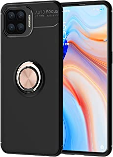 OPPO F17 Pro Case, Ikwcase 360 Degree Rotating Ring Holder Case (Compatible with Magnetic Car Mount) Resilient TPU Drop Pr...