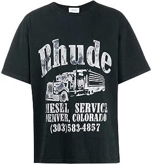RHUDE Luxury Fashion Mens 05ATT01301BLK Black T-Shirt | Fall Winter 19