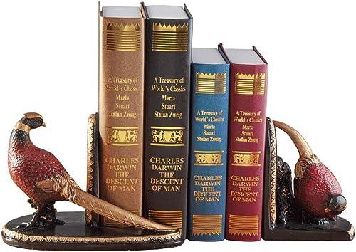 GLJJQMY Reich Vogel Buch Block Dekoration Wohnzimmer Studie bücherregal Buch für Buch Buch Bord Dekoration büro Dekoration 22x11x15 cm Bücherregal