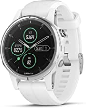 Garmin fēnix 5S Plus, Smaller-Sized Multisport GPS Smartwatch, Features Color Topo Maps, Heart Rate Monitoring, Music and Pay, White/Silver