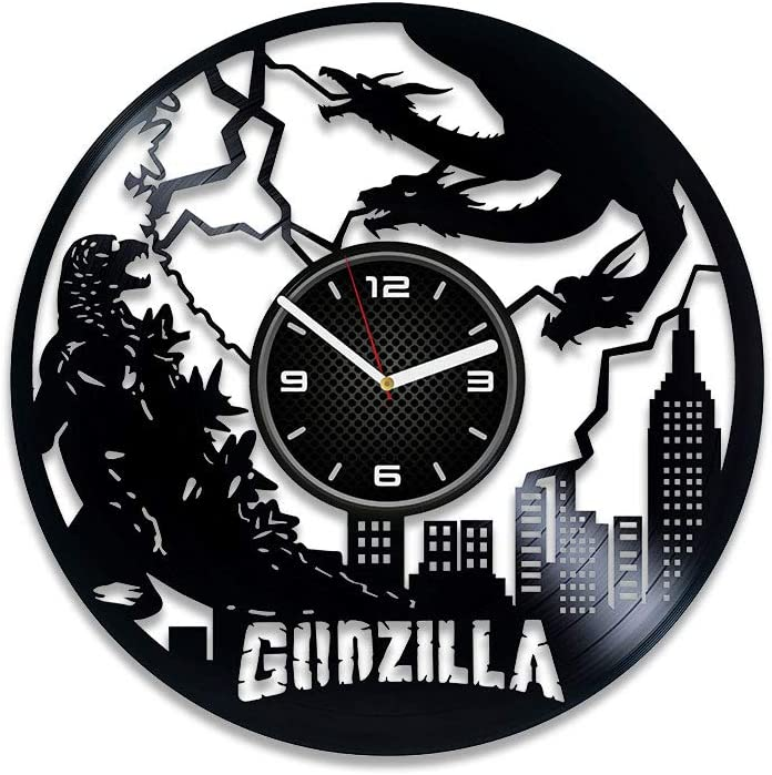 Kovides Godzilla Clock 12 Vinyl Wall Special sale item Record Inventory cleanup selling sale inch