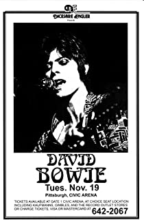 Innerwallz David Bowie at Civic Arena Retro Art Print — Poster Size — Print of Retro Concert Poster — Features David Bowie in Concert.