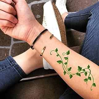 Poison Ivy Temporary Fake Tattoo Sticker (Set of 2) - www.ohmytat.com