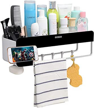 Adhesive Bathroom Shelf Storage Organizer Wall Mount No Drilling Shower Shelf Kitchen Storage Basket Rack Shelves Shower Cadd