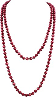 Best burgundy bead necklace Reviews
