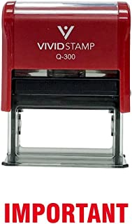 Important Self Inking Rubber Stamp (Red Ink) - Large