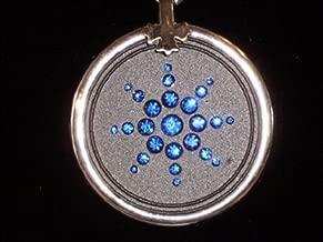 EHM Energy Balance Pendant - Negative Ion Balance Power -Blue Crystal Ringed Volcanic Lava Nano-Fusion Charm - Electromagnetic Field Protection & Energy Biofield Treatment Aid