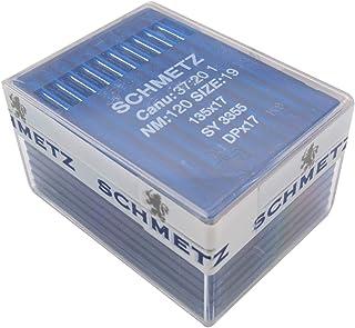 ckpsms SCHMETZ Needle in Clear Plastic Box- 100 Schmetz 135X17 DPX17 SY3355 Industrial Sewing Machine Needles (Schmetz DPX...