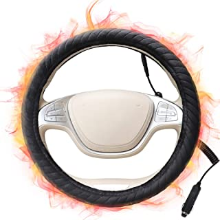 SEG Direct Heated Steering Wheel Cover for All Standard-Size Steering Wheel with 14.5