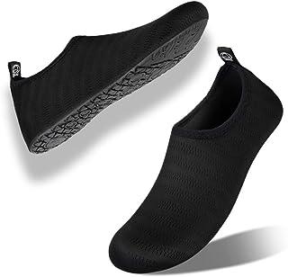 Kyopp Chaussures Aquatiques Homme Femmes Chaussures de Sport Nautique Slip-on Nager de Surf de Yoga de Plage Poids Léger S...