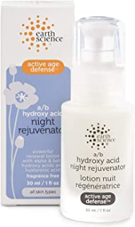 Earth Science A/B Hydroxy Night Rejuvenator, 1-Ounce Glass Bottle