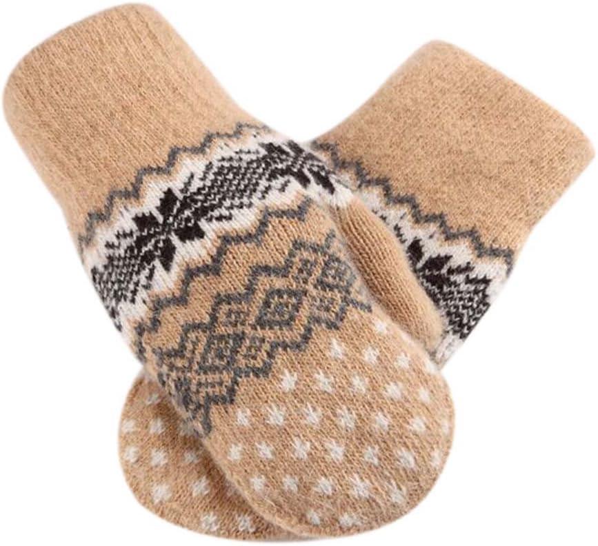 Panda Legends Lovely Mitten Velvet Warm Winter Gloves Woolen Gloves Couple Gloves [Yellow]