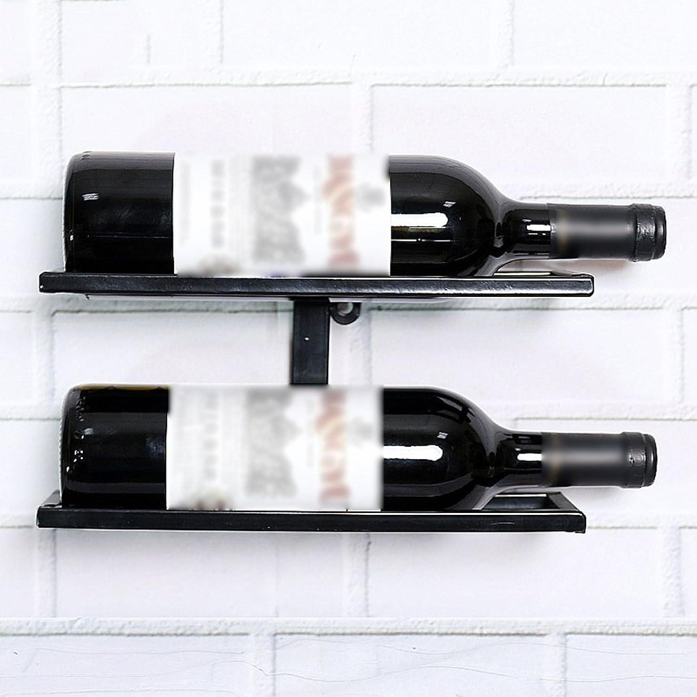 YYHSND Wall-Mounted Wine Rack Wrought Iron Display Rack Living Room Wine Shelf Decoration Frame Wine Bottle Rack Lattice Rack Wine Cabinet red Wine Rack (Size   27  10  13cm)