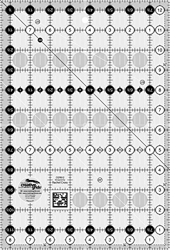 """Creative Grids 8.5"""" x 12.5"""" Rectangle Quilting Ruler Template CGR812"""