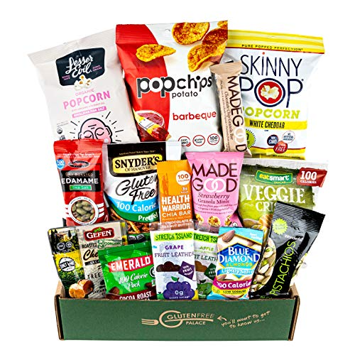 100 CALORIE Snacks Variety Pack | Healthy Snacks Care Package | Low Calorie Snacks | Holiday Gift Baskets | Mix of Vegan Snacks, Protein Bars & Nuts - 100 calories or Less [15 count] Snack Food Gifts