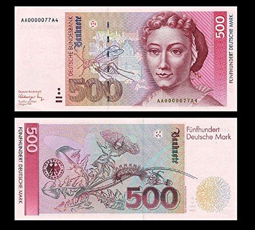 *** 2 Stück 500 Deutsche Mark Geldscheine 1991 Alte Währung - Reproduktion ***