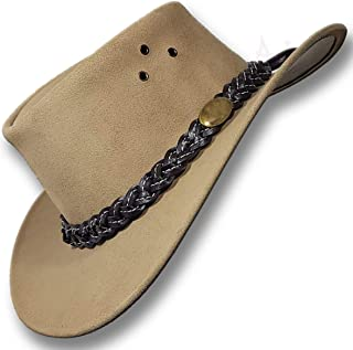 Sponsored Ad - Oztrala~ Jacaru Hat Suede Leather Cowboy Men`s Womens Childrens Kids Australian Outback Western Aussie Blac...