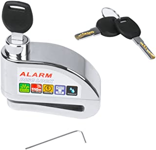 EFORCAR Motorcycle Bike Disc Brake Lock, Anti-Theft Ultra 110db Alarm Bicycle Brake Disc Wheel Security Lock for Scooters ...