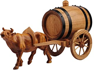 Yuan vinification futs Tonneau À Vin en Bois Massif Cheval Voiture Chêne Tonneau À Vin Décoration De La Maison Vin Ménage ...