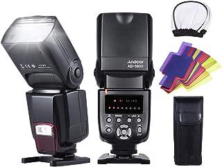 فلاش فلاش فلاش Speedlite على الكاميرا من Andoer AD-560II مع موزع فلاتر لون إضاءة LED قابل للتعديل وحامل حذاء ساخن لكاميرا ...