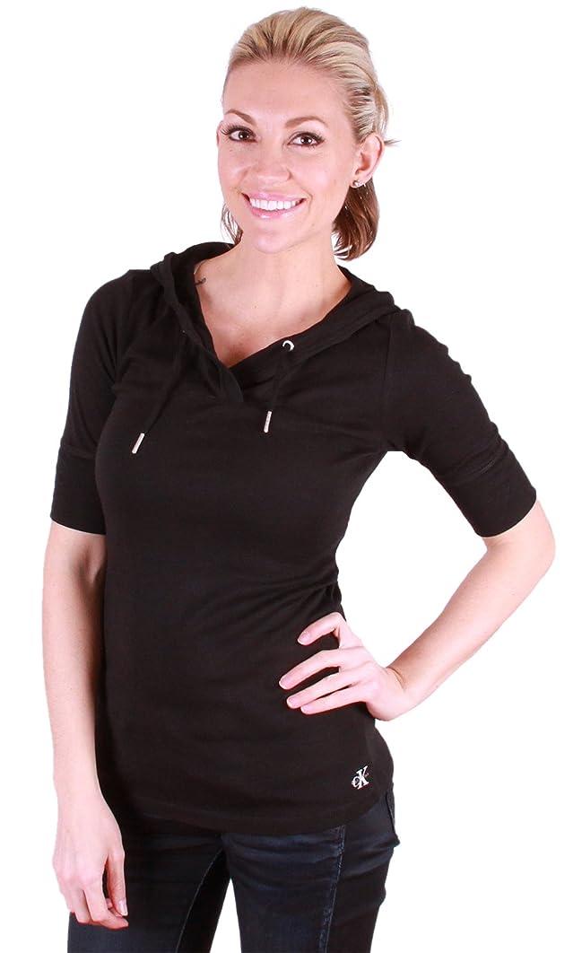 戦略慈悲深い寄付するCalvin Klein女性用パフォーマンスパーカーシャツブラック、XL