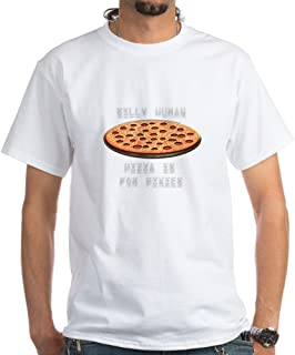 Pizza for Pixies 100% Cotton T-Shirt, White