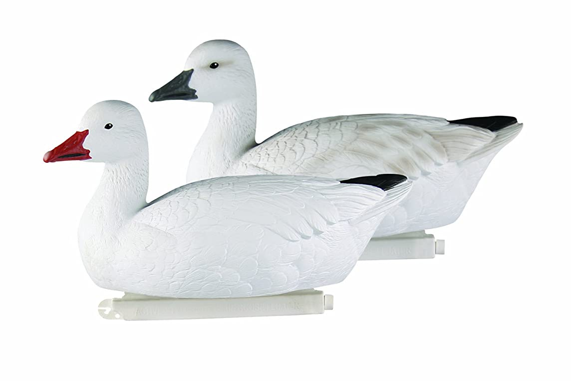 Avery Greenhead Gear Pro-Grade Goose Decoy,Snow Goose Floaters/Active 4-Pack