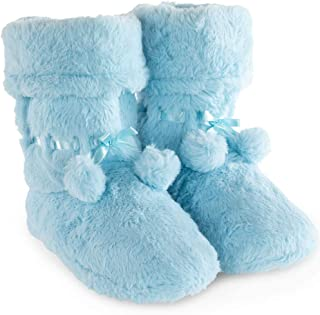 PajamaGram Fleece Slippers for Women - Slipper Boots for Women