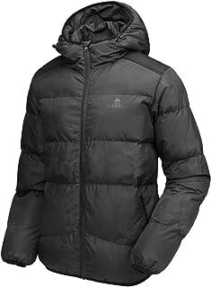 CAMEL CROWN Men's Down Jackets Waterproof Jacket Windproof Winter Coat with Hood for Outdoor Hiking Traveling
