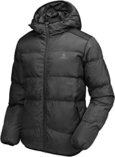 CAMEL CROWN Men's Winter Thicken Cotton Coat Puffer Windproof Jacket with Hood, Inner Pocket