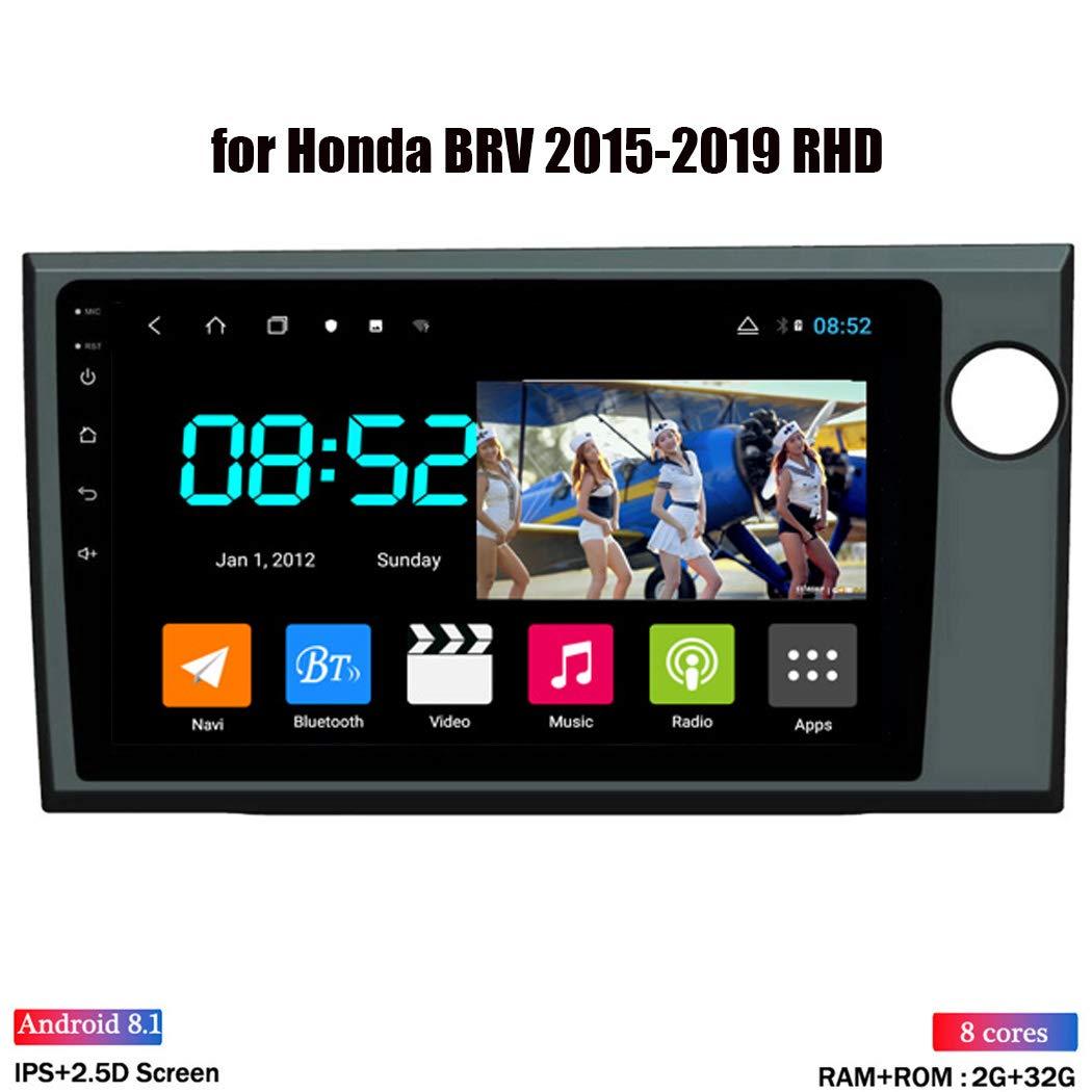 ZhiQin Android 8.1 Octa Core GPS Navegador Coche para Honda BRV 2015-2019 - RDS Radio del Coche, Conexión a Internet WiFi/BT, Soporte DVR OBD2/Llamadas Manos Libres,Nocanbus,WiFi:4+64GB: Amazon.es: Deportes y aire libre