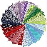 aufodara 30pcs 25 x 25 cm, diseño de retales algodón Tejido DIY Patchwork hecho a mano Costura Quilting tela diseños diferentes