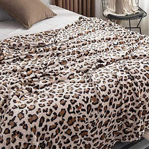 YOUZHA Leopard Zebra Impreso Invierno cálido Franela