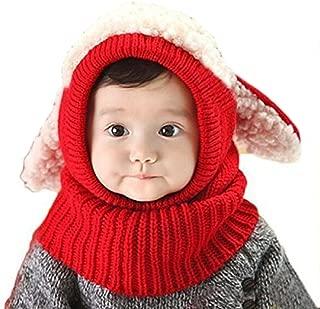 Tusong Unisex Baby Toddle Kids Winter Hat Scarf Earflap Hood Scarves Skull Caps