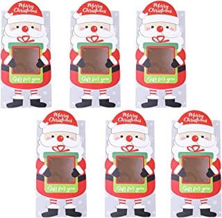 Cabilock Scatole di Caramelle Rosse della Vigilia di Natale Scatole di Biscotti Rotonde per Biscotti Scatole di Caramelle per Feste Contenitore di Caramelle da Forno 10X10cm