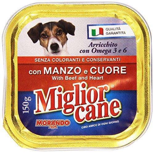 MigliorCane Vaschetta Manzo/Cuore 150 g