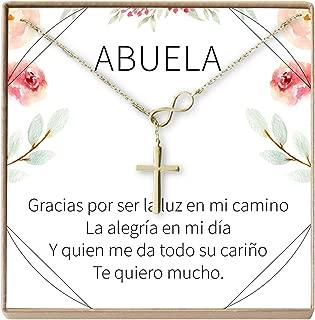 Collar Regalo para Abuela, Día de la Madre, Cumpleaños, Día de la Mujer, Infinity Cross
