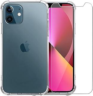 TechNow iPhone 13 Mini etui z iPhone 13 Mini szkło pancerne - etui do iPhone 13 Mini - etui na telefon komórkowy przezrocz...