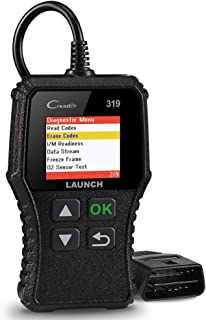 LAUNCH OBD2 Scanner CR319 Code Reader,Universal Automotive Engine Light Check Scan Tool Checks O2 Sensor and EVAP Systems with Full OBD II Functions for DIYers, Supports Mode6 with DTC Lookup